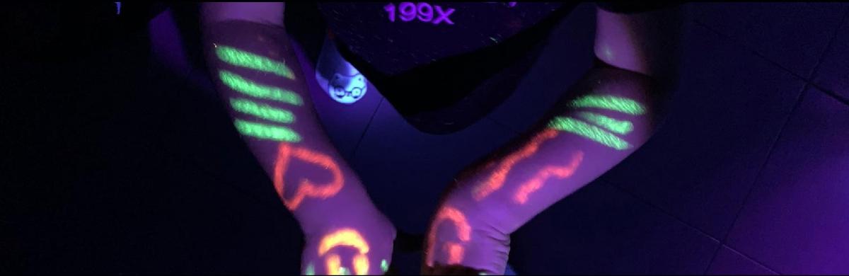 Juegos con luces ultravioletas